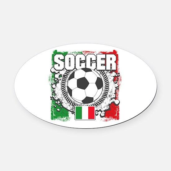 Soccer Italy Oval Car Magnet