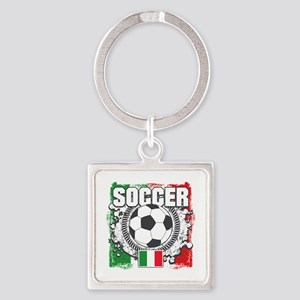 Soccer Italy Square Keychain