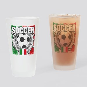 Soccer Italy Drinking Glass