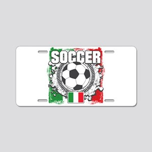 Soccer Italy Aluminum License Plate