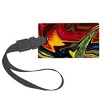 Native American War Paint Large Luggage Tag