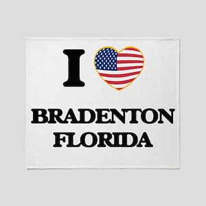 I love Bradenton Florida Throw Blanket