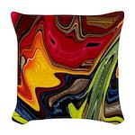 Native American War Paint Woven Throw Pillow