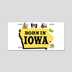 IOWA BORN Aluminum License Plate