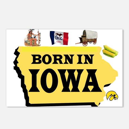 IOWA BORN Postcards (Package of 8)
