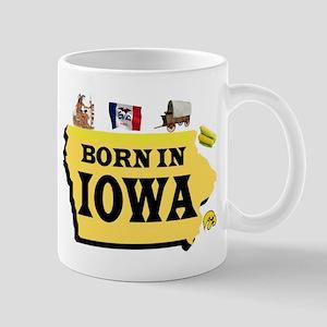 IOWA BORN Mugs