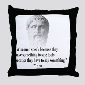 Quote By Plato Throw Pillow