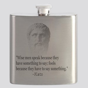 Quote By Plato Flask