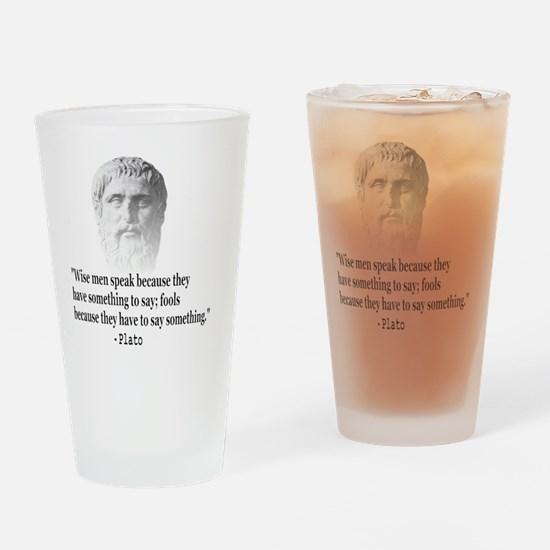 Quote By Plato Drinking Glass