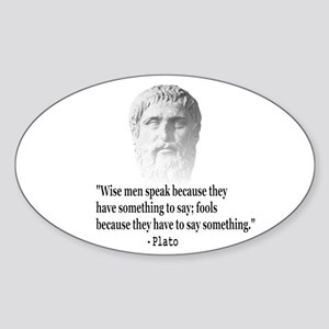 Quote By Plato Sticker