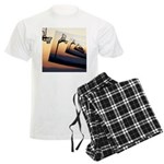 Basketball Hoop Silhouette Men's Light Pajamas