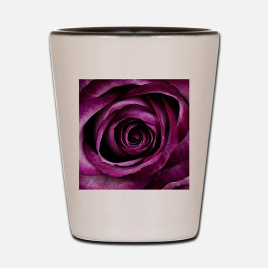Purple Rose Shot Glass
