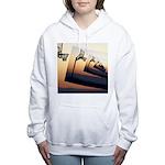 Basketball Hoop Silhouet Women's Hooded Sweatshirt