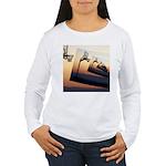 Basketball Hoop Silhou Women's Long Sleeve T-Shirt