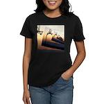 Basketball Hoop Silhouette Women's Dark T-Shirt