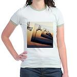 Basketball Hoop Silhouette Jr. Ringer T-Shirt