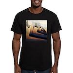 Basketball Hoop Silhou Men's Fitted T-Shirt (dark)