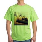 Basketball Hoop Silhouette Green T-Shirt