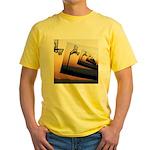 Basketball Hoop Silhouette Yellow T-Shirt
