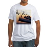 Basketball Hoop Silhouette Fitted T-Shirt