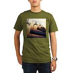 Basketball Hoop Silho Organic Men's T-Shirt (dark)