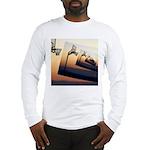 Basketball Hoop Silhouette Long Sleeve T-Shirt