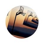 Basketball Hoop Silhouette Button