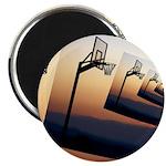 Basketball Hoop Silhouette Magnets