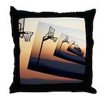 Basketball Hoop Silhouette Throw Pillow
