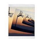 Basketball Hoop Silhouette Twin Duvet