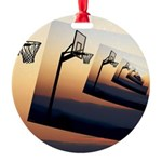 Basketball Hoop Silhouette Ornament