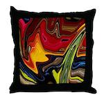 Native American War Paint Throw Pillow
