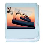 Basketball Hoop Silhouette baby blanket