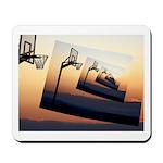 Basketball Hoop Silhouette Mousepad