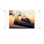 Basketball Hoop Silhouette Banner