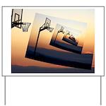 Basketball Hoop Silhouette Yard Sign