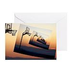 Basketball Hoop Silhouette Greeting Cards