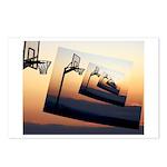 Basketball Hoop Silhouette Postcards (Package of 8