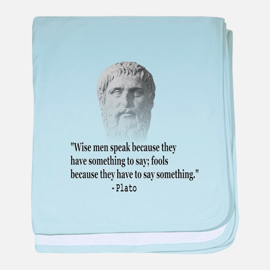 Quote By Plato baby blanket