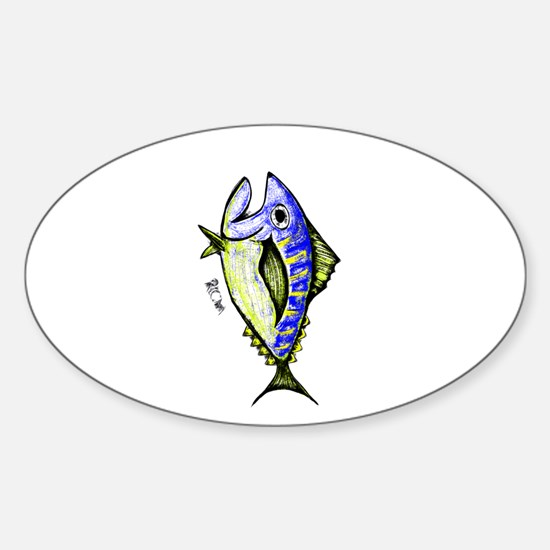 Tuna Abstract 2 rot Decal