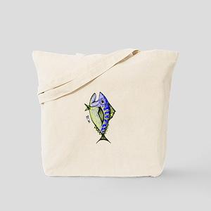 Tuna Abstract 2 rot Tote Bag