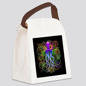 Octopus Psychedelic Luminescence Canvas Lunch Bag