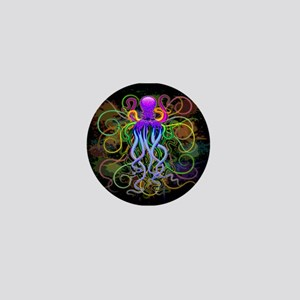 Octopus Psychedelic Luminescence Mini Button