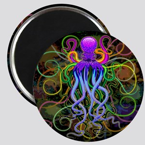 Octopus Psychedelic Luminescence Magnets