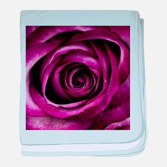 Purple Rose baby blanket