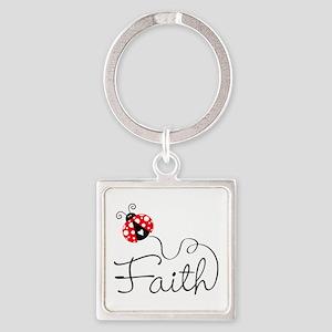 Ladybug Faith Keychains