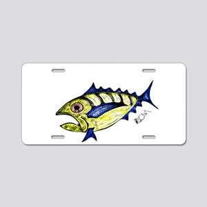 Tuna Abstract Aluminum License Plate