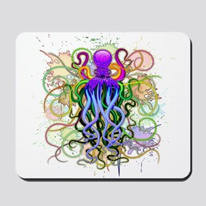 Octopus Psychedelic Luminescence Mousepad