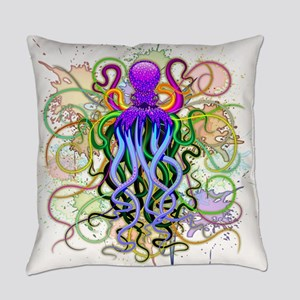 Octopus Psychedelic Luminescence Everyday Pillow