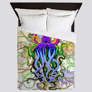 Octopus Psychedelic Luminescence Queen Duvet